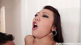 Asian cutie Miko Dai pussy devastated