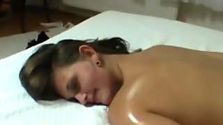 Hot ass massage at the casting