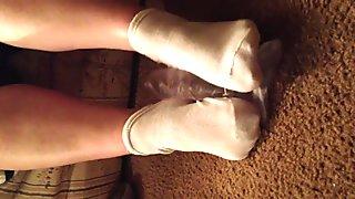 BBW Feet play with  Dildo