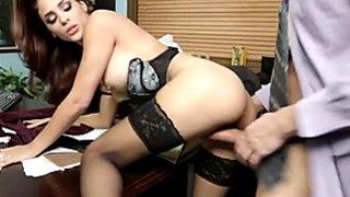 Astonishing booty secretary Jasmine Caro rides lewd Preston Parker's dick