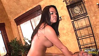 Mia Lelani receives a thick load of creamy jizz in her mouth