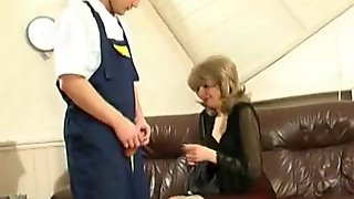 Old Mature Lady with a horny guy