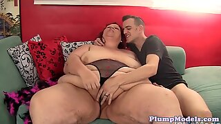 Fat granny doggystyled by younger cock