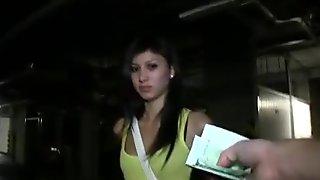 Eurobabe Mona pussy banged and jizzed on
