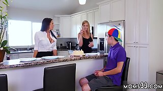 Sexy teen gets fucked Hot MILF For His Birthday