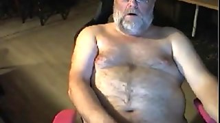 grandpa stroke on cam with a toy