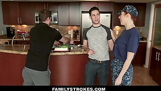 FamilyStrokes - curvy Military wife banged by Stepson