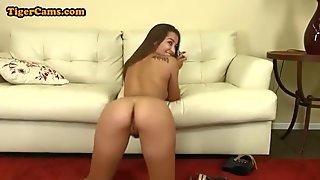Furry Pussy Babe Masturbating- porn6969.com