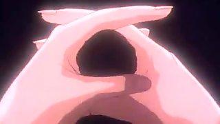 Hentai lesbians using big dildo