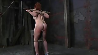 Hot babe follows the orders