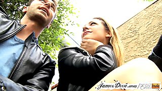 Teen bailey blue's amateur casting with james deen