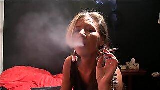 Sexy mature slut smoking