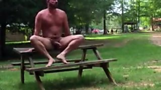 Horny exhibitionist at the campground