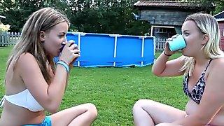 Big boobs college girl water challenge